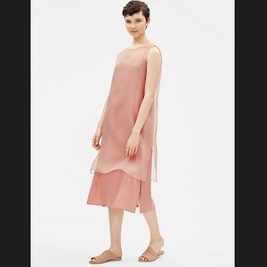 Eileen Fisher Washed Silk Organza Layering Dress
